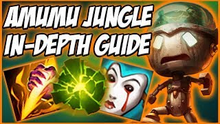 GUIDE ON HOW TO PLAY AMUMU JUNGLE IN SEASON 8! A TEAMFIGHT MONSTER 1V9 - League of Legends
