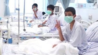Thai cave rescue: Officials release 1st video of rescued boys in hospital