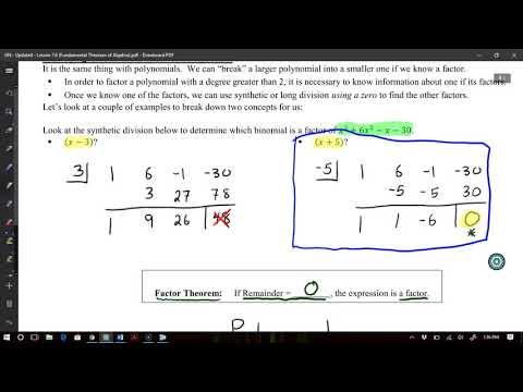 A2   Factor Theorem