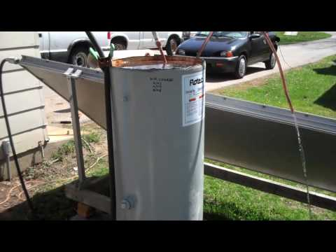 Solar Hot Water Copper Coil Pipe install