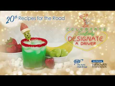 Green Grinch Holiday Punch and Grinch Kabob Recipe Video
