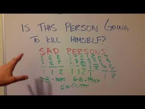 How to Treat Suicidality: SAD PERSONS Mnemonic