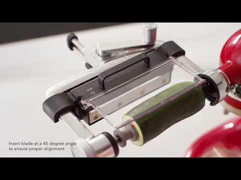 How to: Use the Vegetable Sheet Cutter Attachment | KitchenAid
