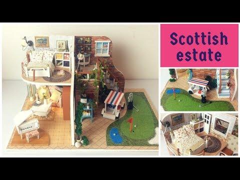 Miniature Dollhouse kit Scottish estate
