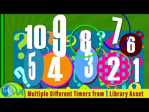 Create a Camtasia Countdown Timer 10 9 8 Multiple Different Countdown Timers for Videos ✅ #camtasia