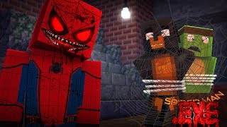 Minecraft SPIDERMAN .EXE - EVIL SPIDERMAN .EXE TRAPS TINY TURTLE AND EATS HIM ALIVE! - Donut the Dog
