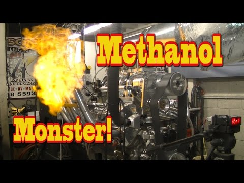 Blown Methanol Monster lays waste to Dyno room!  LOL!  Nelson Racing Engines.  Alcohol Rail..