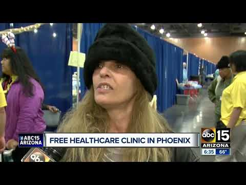 Downtown Phoenix hosts free healthcare clinic