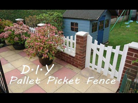 Diy pallet Picket Fence.