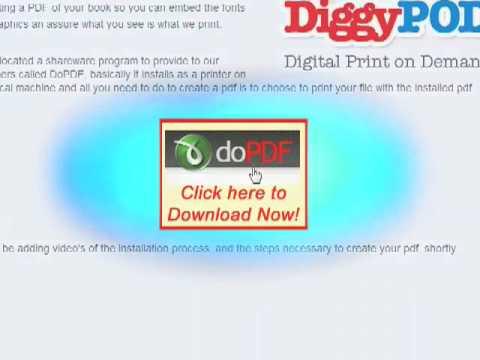 DiggyPOD PDF Driver Install Instructions Windows 7