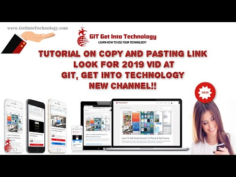 Tutorial on Copy and Pasting Link!