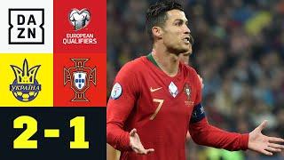 700. Ronaldo-Tor, aber Gruppensieg futsch: Ukraine - Portugal 2:1   EM-Quali   DAZN Highlights
