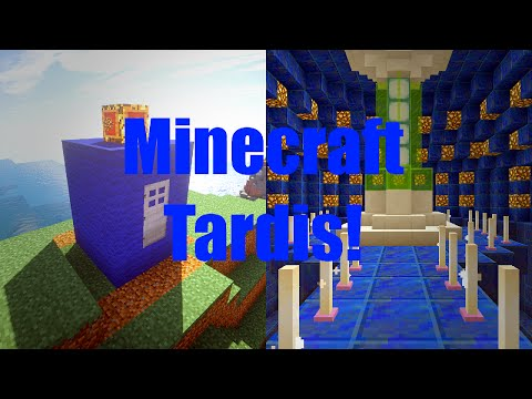 Minecraft Working Tardis! In Vanilla Minecraft! Using Command Blocks!