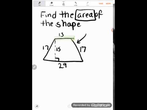 GED Math: Area of a Trapezoid Example Problem