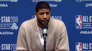 Paul George Postgame Interview - Team LeBron vs Team Giannis   2019 NBA All-Star Game