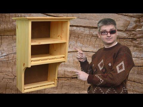 Homemade wooden kitchen shelf