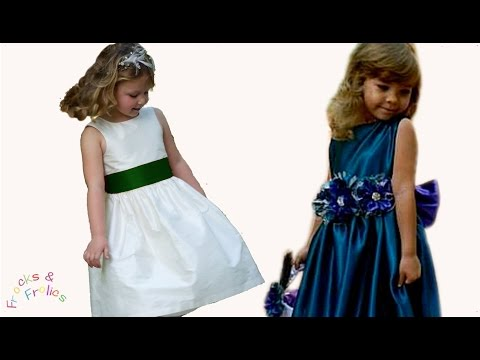 Sewing Pattern - Flower Girl Dress - How to sew a traditional 50's style dress