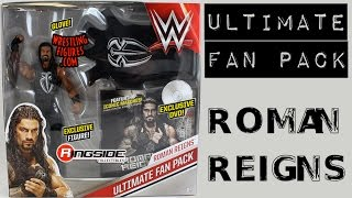 WWE FIGURE INSIDER: Roman Reigns - Ultimate Fan Pack Toy Wrestling Figure from Mattel