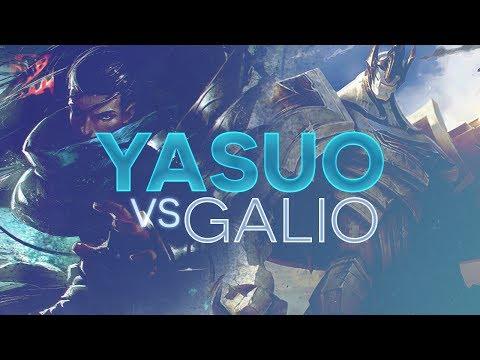 Yasuo TOP - Yasuo vs Galio Patch 7.10 (Warlords)