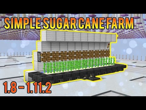Minecraft Best Simple Sugar Cane Farm Skyblock and Survival 1.8 - 1.11.2