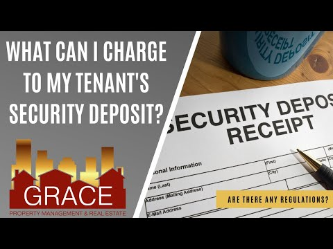 What can I charge to my tenants security deposit?