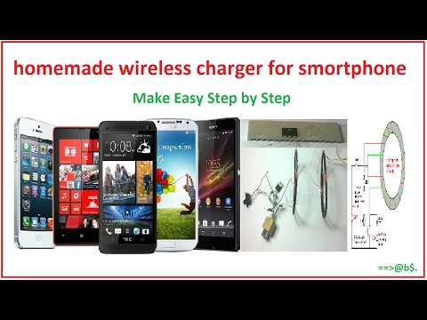 how to make wireless mobile charger at home - easy with circuit diagram