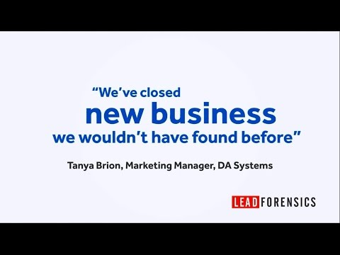 DA Systems find new business leads using Lead Forensics