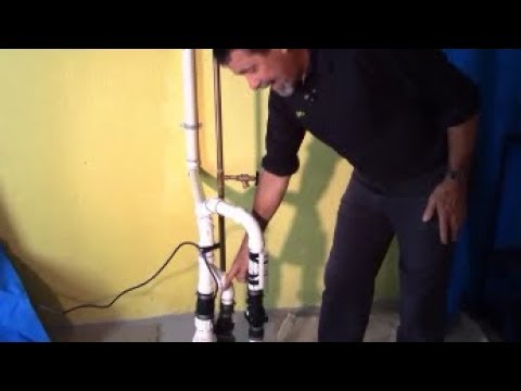 Backup sump pump to discharge onto patio as alarm to alert failure