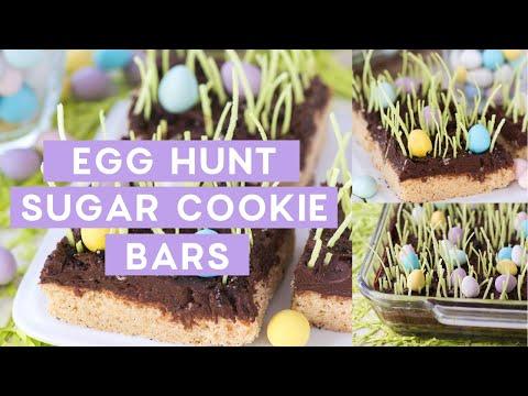 Egg Hunt Sugar Cookie Bars