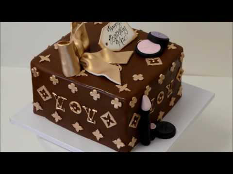 Spinning Louis Vuitton Box Cake Demonstration