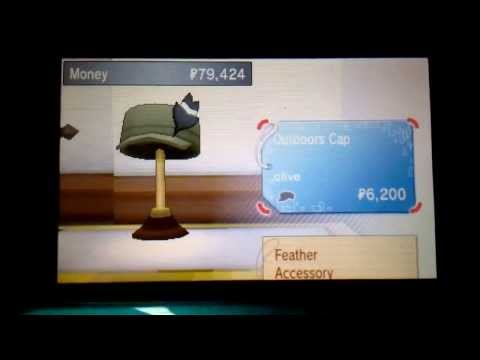 How to buy and pût on clothes in pokemon x & y