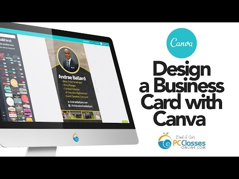 Design a Business Card Using Canva