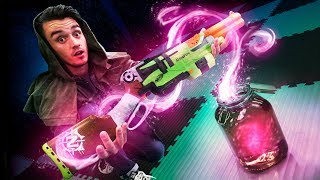 Nerf Magic Adventure Board Game Challenge!