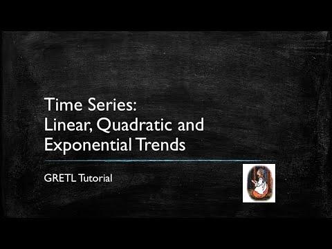 Gretl Tutorial 7: Comparing Time Series Trend Models