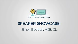 Toastmasters 2020 Convention Speaker Showcase: Simon Bucknall