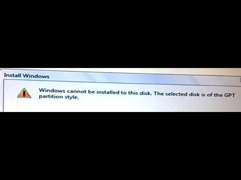 No Format,No GPT to MBR, Windows Cannot be installed to this disk. The Selected disk is of the GPT..
