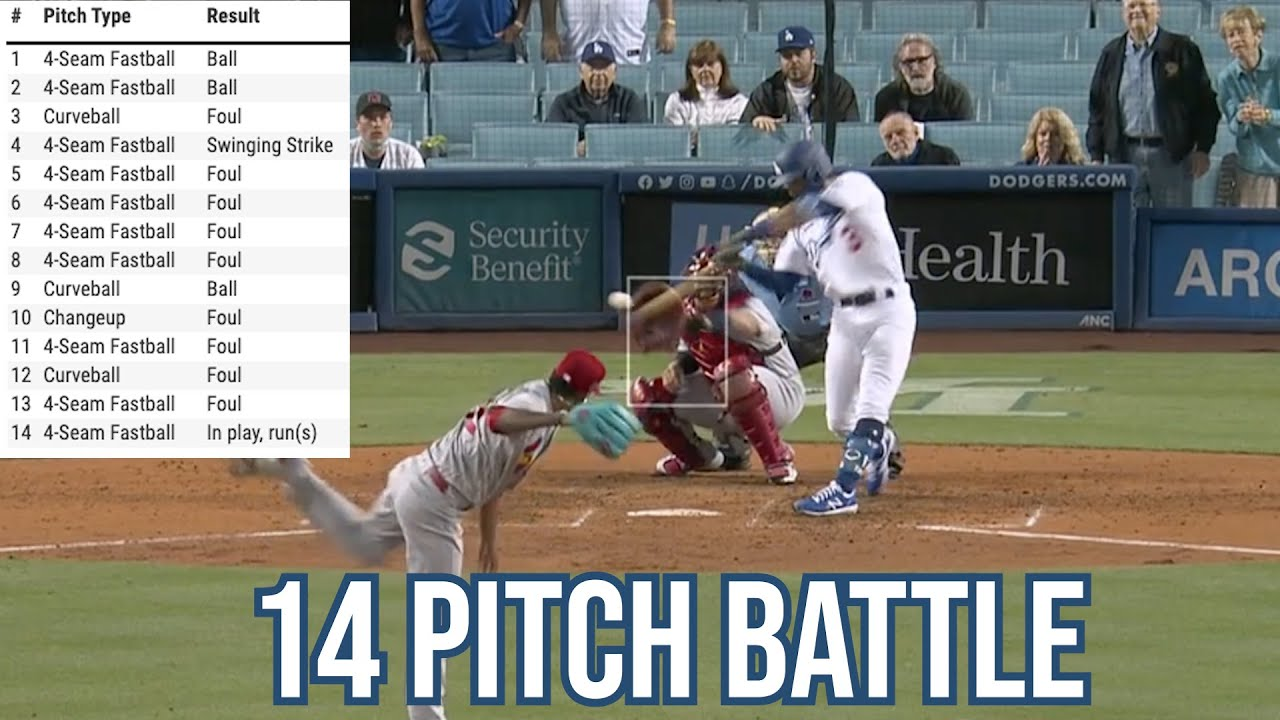14-pitch at-bat ends with bases clearing double, a breakdown