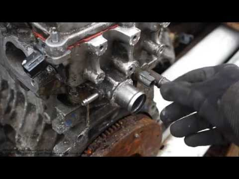 How to replace temperature sensor Toyota VVT-i engine. Years 2000 to 2008