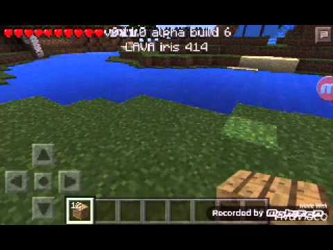 How to make wooden pickaxe in Minecraft pocket edt