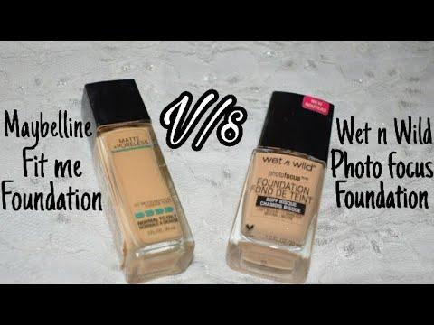 Maybelline Fit me Vs Wet n Wild Photofocus Foundation || Foundation Comparison || Sayantani Some