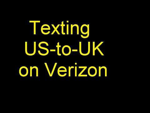 Verizon Free Text Message to UK