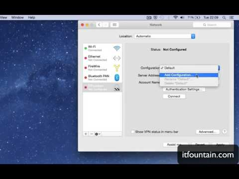 How to setup L2TP VPN connection on Mac OS X Yosemite