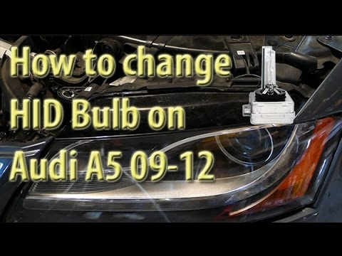 How to Replace Headlamp bulb on Audi A5, S5, RS5 (B8) 08, 09, 10, 11, 12
