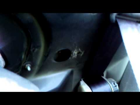 How To: access Mustang seat belt recoil.