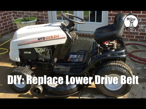DIY: How to Change the Lower Drive Belt on a MTD Gold, Bolens, Yard Machines, or Toro Riding Mower