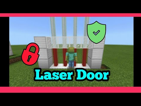 How to make a Laser Security Door | Minecraft PE