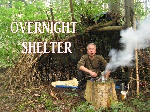 Overnight Shelter Primitive Bushcraft Camp Setup