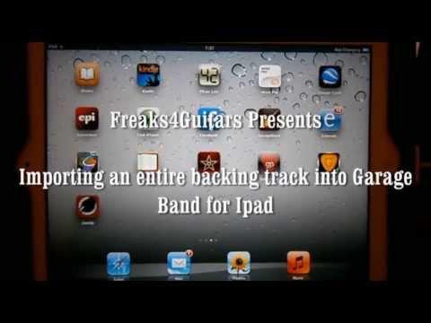 Adding Backing Track to GarageBand for Ipad