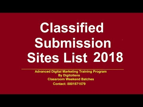 Free Classified Submissions sites list 2018 | Digitoliens (Addula Info)