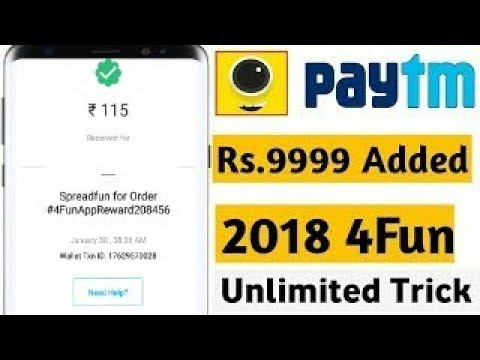 💶Earn unlimited Paytm 💰cash || 4fun app hacking 🔥
